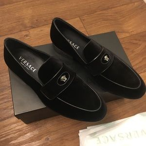versace mens loafer shoes